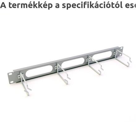 Kábelrendező előlap átvezető nyílásokkal, fémgyűrűs | UNIVERZÁLIS