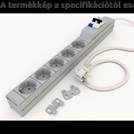 DI-STRIP Protector FI/LS hálózati elosztó 9db aljzattal