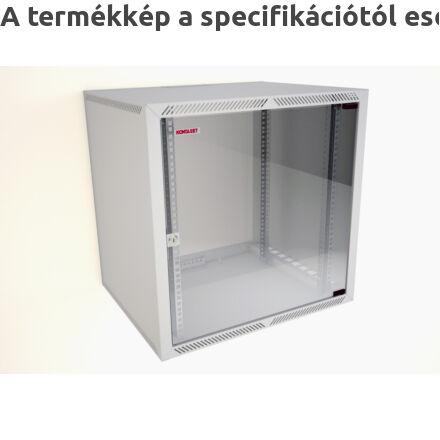 F3 fali rackszekrény üvegajtóval
