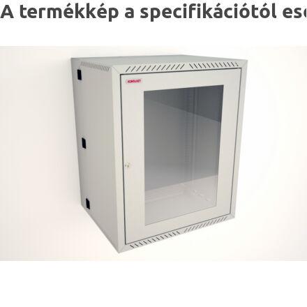 F4 kétrészes fali rackszekrény üvegajtóval