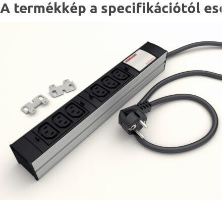 DI-STRIP IEC320 hálózati elosztó 6db aljzattal