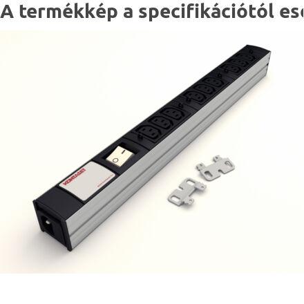 DI-STRIP IEC320 hálózati elosztó 9db aljzattal