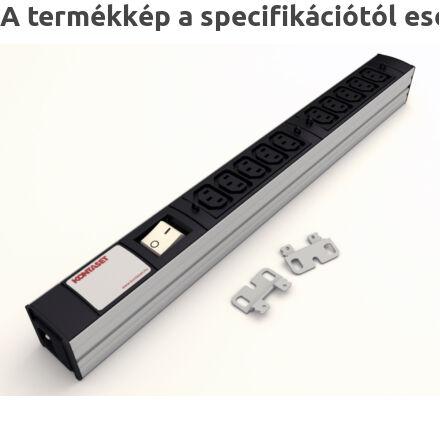 DI-STRIP IEC320 hálózati elosztó 10db aljzattal