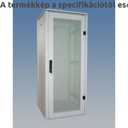 KS100 hálózati rackszekrény üvegajtóval