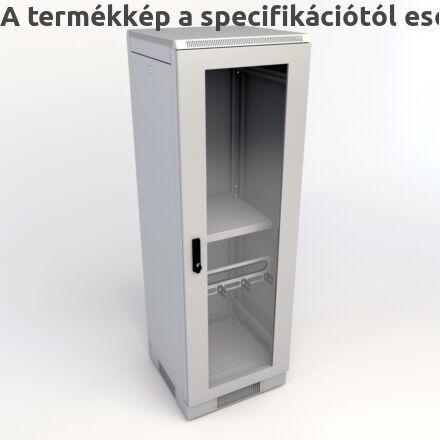 KS300 hálózati rackszekrény üvegajtóval
